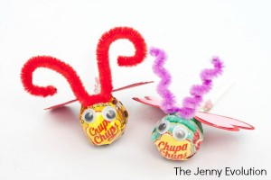 Handmade Love Bug Lollipop Valentines