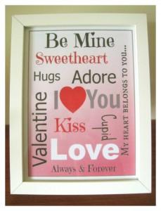 Valentines Day Subway Art Printable