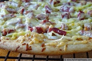 Corned Beef, Cabbage and Dubliner Pizza