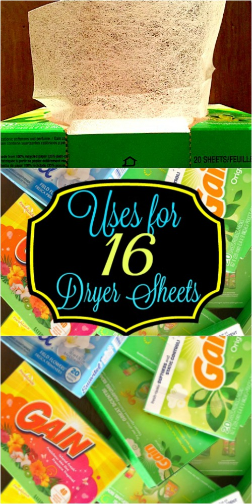 16 Uses For Dryer Sheets