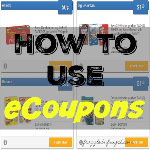 How to use eCoupons