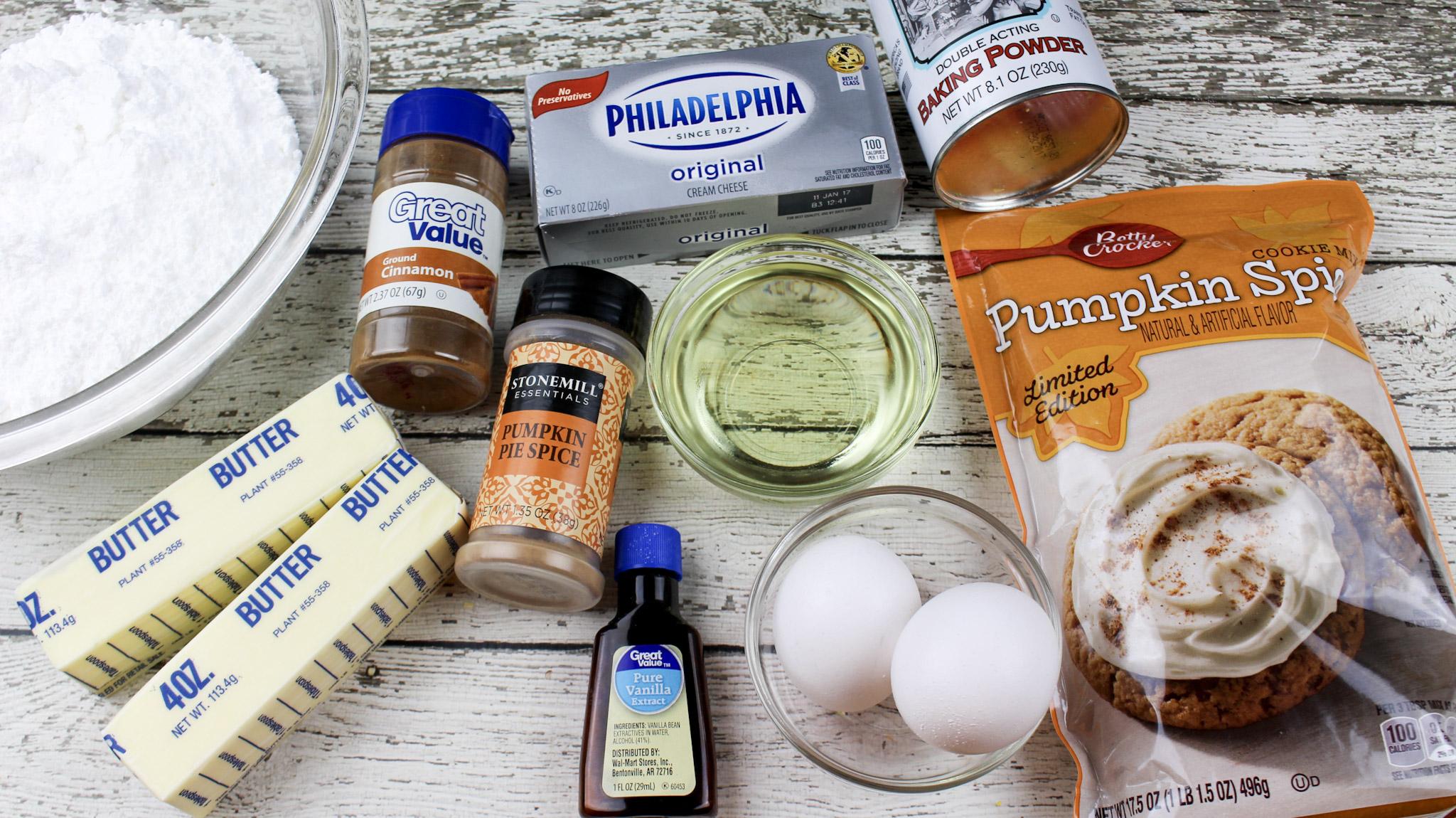 Pumpkin Spice Whoopie Pies Ingredients