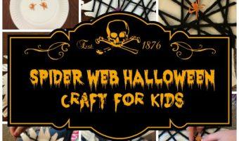 Easy Spider Web Halloween Craft For Kids