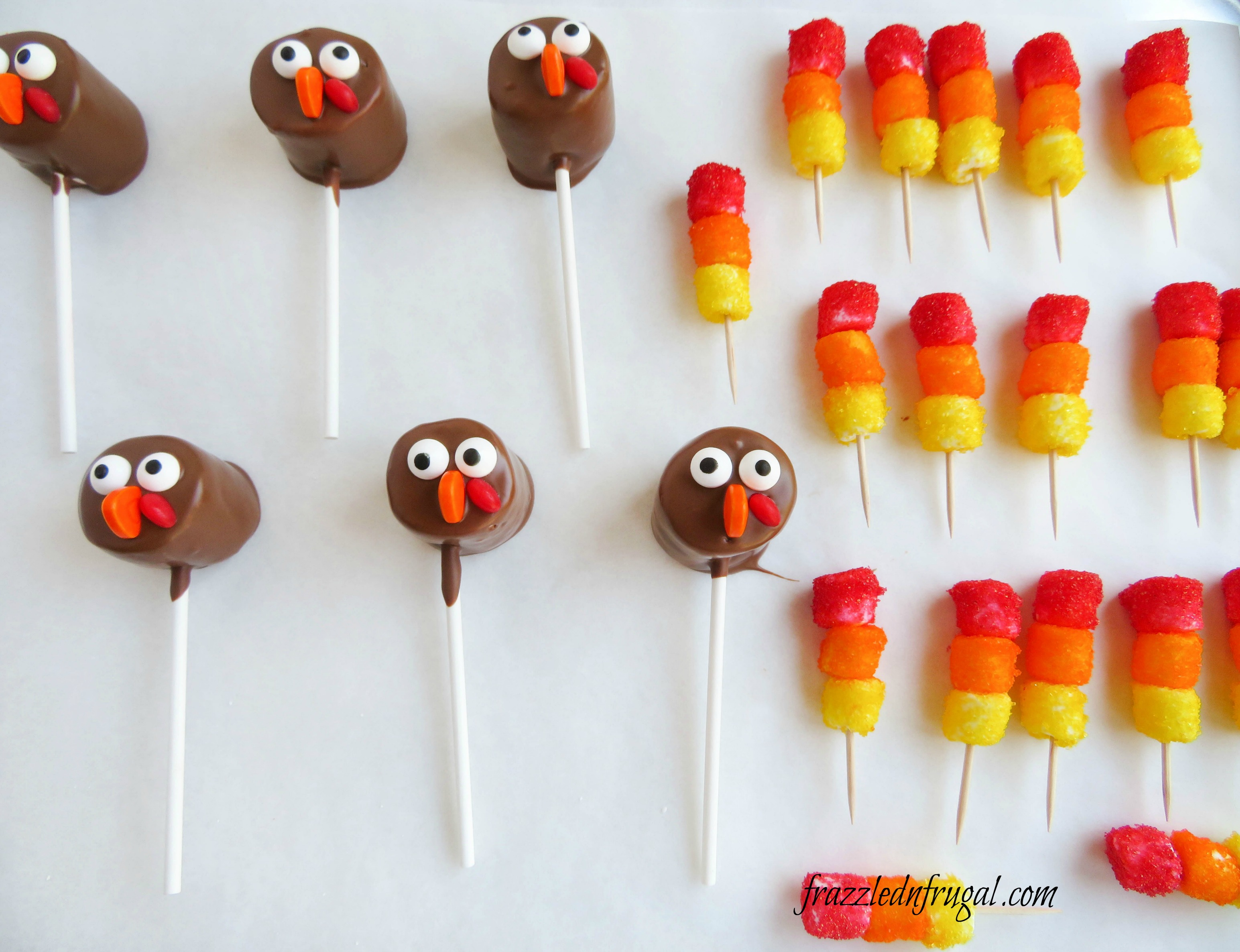 Marshmallow Turkey Pops