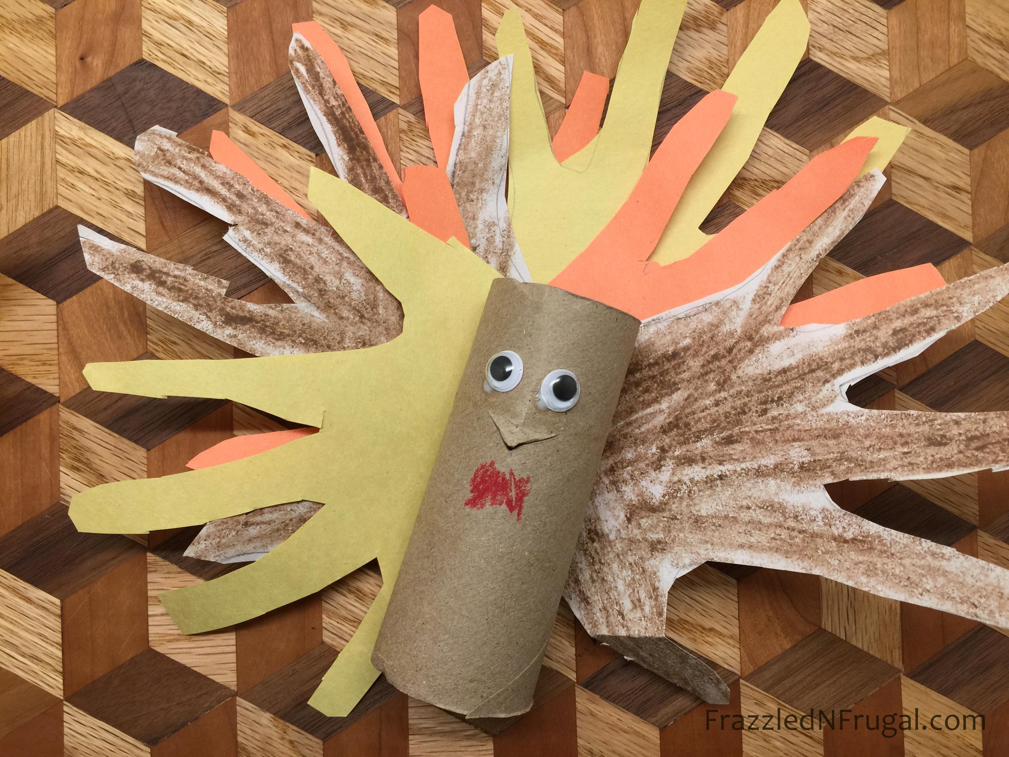 Toilet Paper Roll DIY Turkey Craft