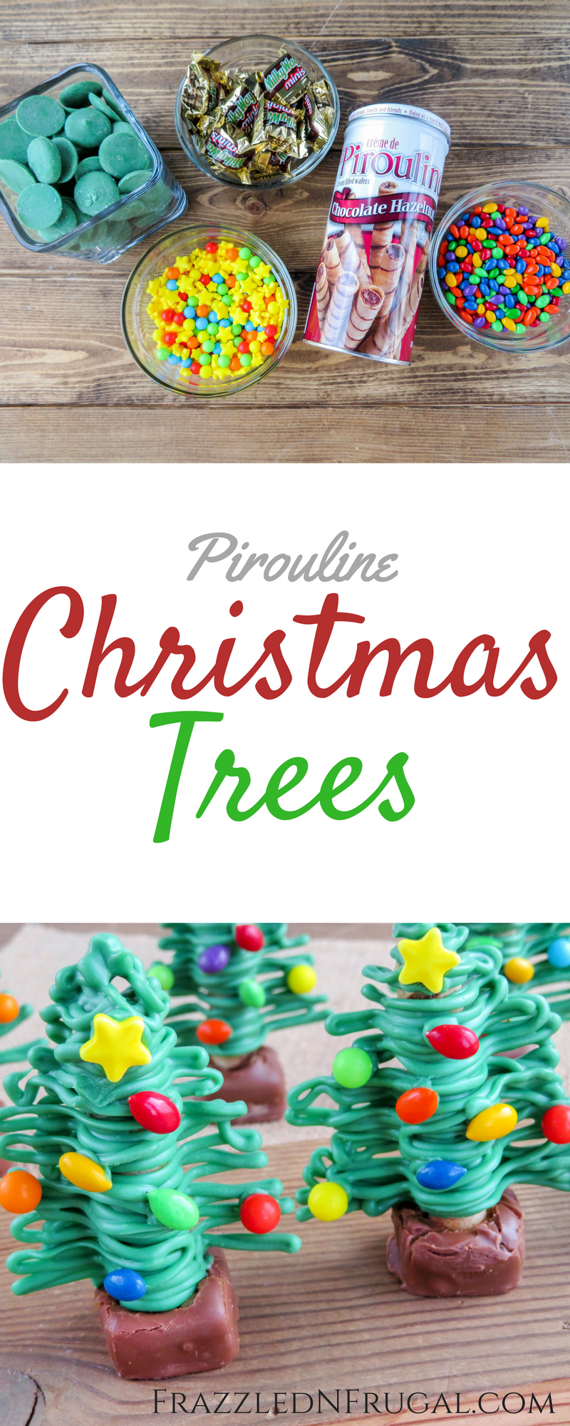 Pirouline Christmas Trees