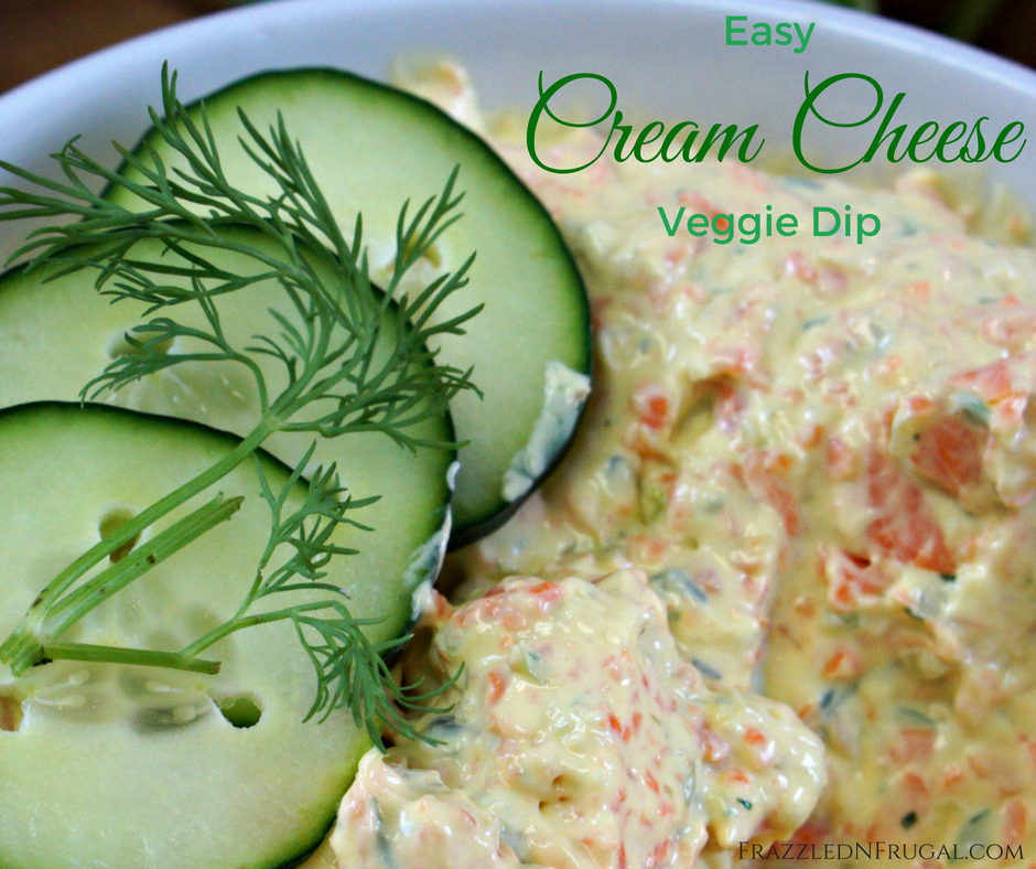Easy Cream Cheese Veggie Dip