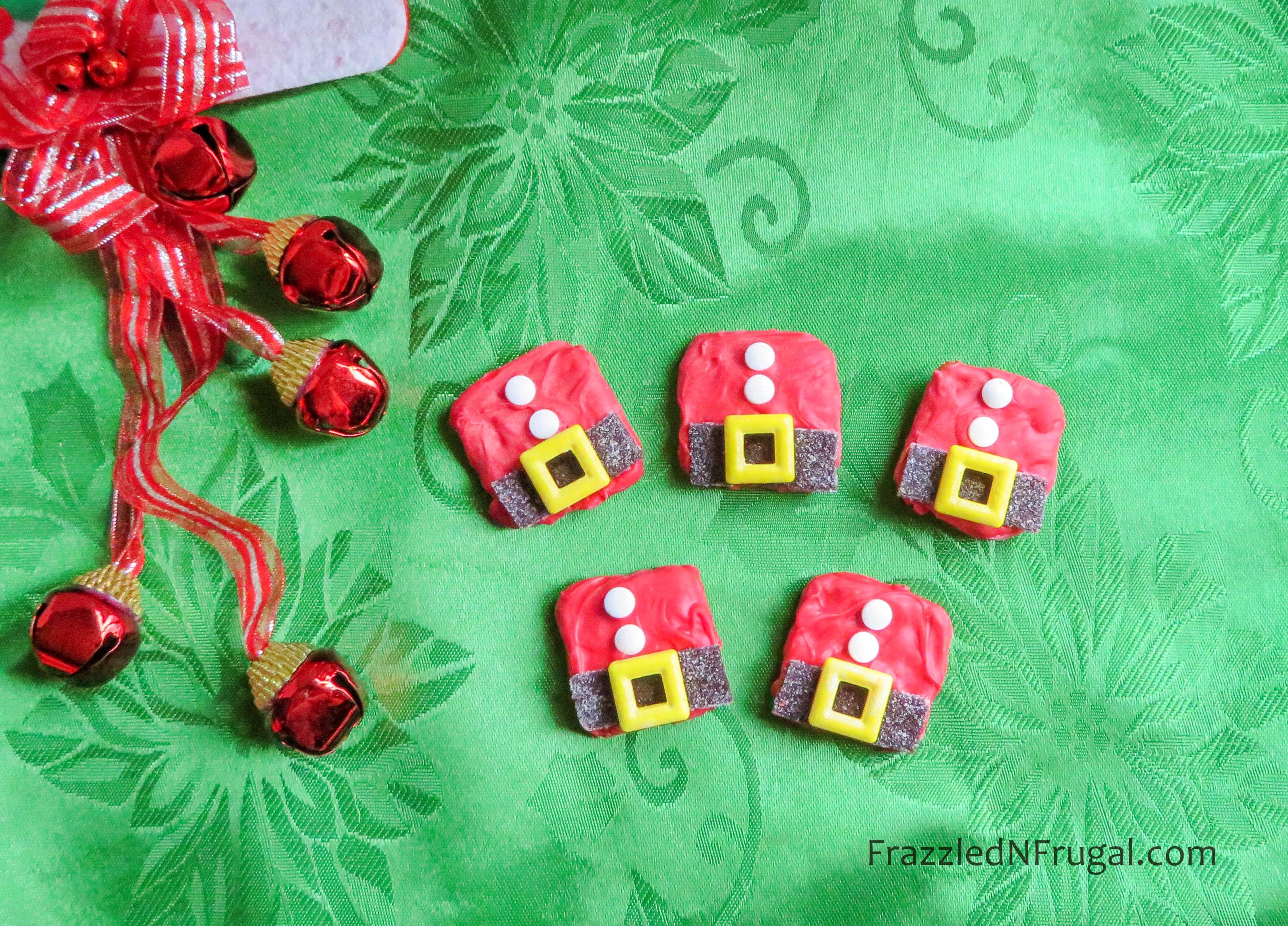 Santa Coat Pretzel Cookies