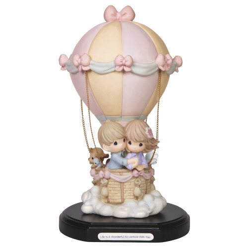 "Life Is A Wonderful Air-Venture With You"" Limited Edition Bisque Porcelain Sculpture Item #149026 Precious Moments"