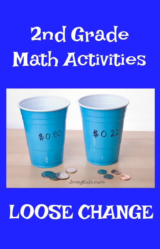 For this 2nd grade math activity your child will use loose change to learn the value of money and practice adding & subtracting coin denominations.