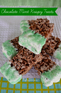 Chocolate Mint Rice Krispies Treats