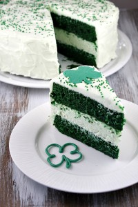 Green Velvet Cheesecake Cake