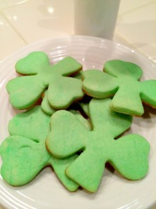 Shamrock Cream Cheese Cookies