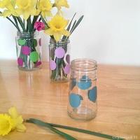 Easy Repurposed Jar Vase
