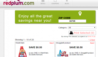 Red Plum Printable Coupons