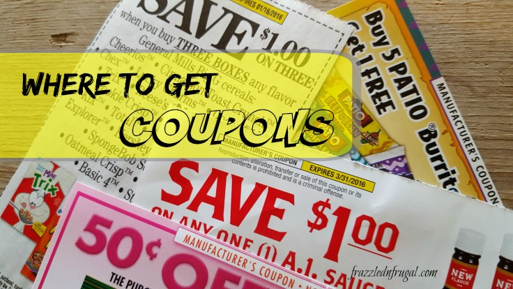 Where To Get Coupons Printable Promotional Frazzled N Frugal