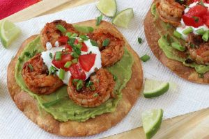 shrimp-avocado-tostada