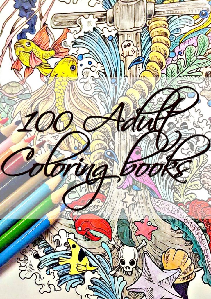 100 Beautiful, Adult Coloring Books