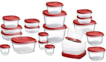 Amazon: Rubbermaid Storage Containers set of 42