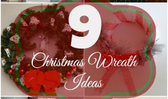 9 Simple Christmas Wreaths you can make yourself.