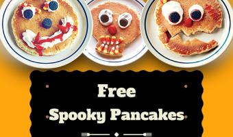 Free Spooky Pancakes at IHOP