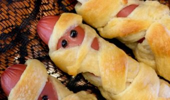 Halloween Mortified Mummy Dogs