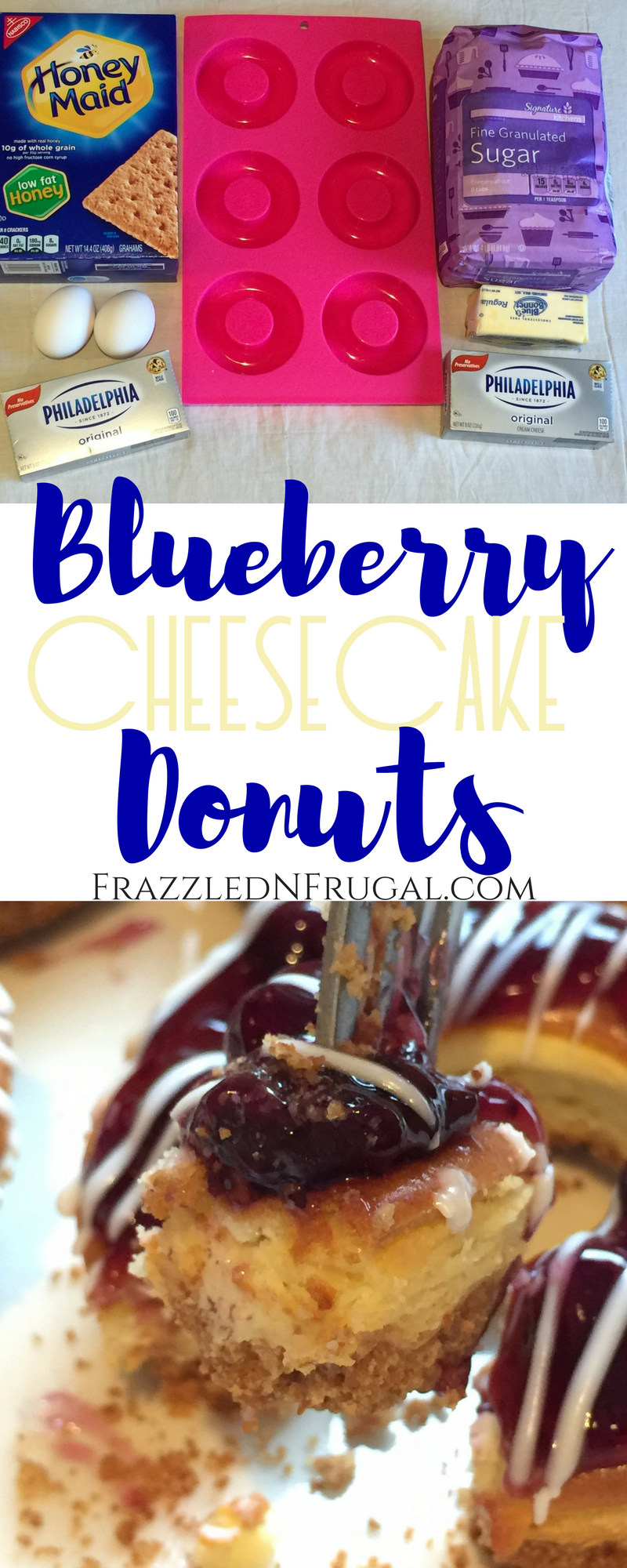Blueberry Cheesecake Donuts